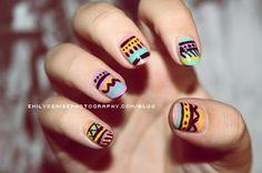 lush aztec nails