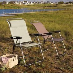 Outdoor Lafuma Cham'Elips Folding Lawn Chair with Arms - Set of 4 - LFM1928-6935