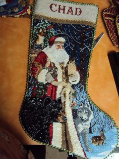 tapestry tent needlepoint christmas stockings | ... Hollee C. , did this stocking for her new son-in-law! Tapestry Tent