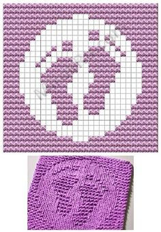 Picture only, but am thinking could make a square afghan from this grid pattern. by Vorlagen Knitted Washcloth Patterns, Knitted Washcloths, Dishcloth Knitting Patterns, Crochet Dishcloths, Knitting Charts, Knitting Stitches, Knit Patterns, Stitch Patterns, Crochet Chart