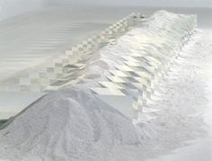 Mirror and Shelly Sand, Robert Smithson