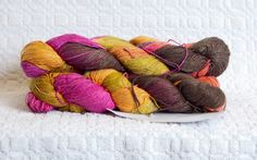 Silk Lace Weight Thread in Autumn Glory by PenandHook on Etsy