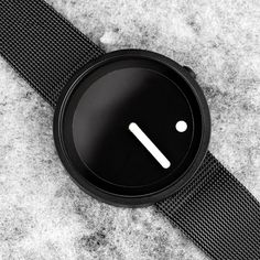 This is the ultimate gift for the minimalist who appreciates simplicity. Available in black and with colorswith a genuine leather or stainless steel mesh strap option.  Limited stock, get yours fast!