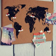 Cork board world map black cork boards cork and natural brown gumiabroncs Image collections