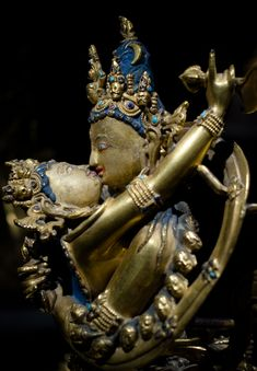 Union of Wisdom and Compassion, Samvara and Vajrayogini, Tibet, 14th C.   The Rubin Museum, NYC