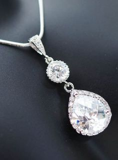 Gorgeous Cubic Zirconia Bridal Necklace
