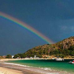 Rainbow over the ocean at the St. Kitts Marriott Resort.