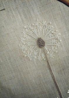 Soffione ricamato Embroidered dandelion