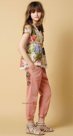 ALALOSHA: VOGUE ENFANTS: New Season: An almost dreamlike vision of a girl who chooses to wear Twin-Set SS'16 looks