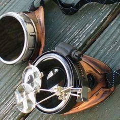 Steampunk Time Travel Crazy Scientist's by oldjunkyardboutique, $34.99