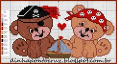 Dinha Ponto Cruz: Ursinhos piratas by Dinha