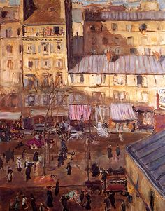 The Intersection/ Boulevard de Chichy and the Corner of the Rue de Douai / Pierre Bonnard - circa 1904