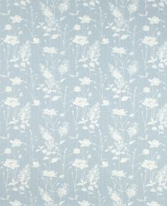 Dragonfly Garden Chalk Blue Wallpaper #lauraashleyhome