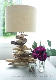 How+to+Make+a+Driftwood+Lamp