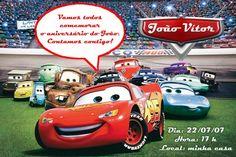Convite digital personalizado Carros da Disney 002