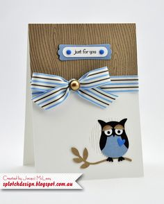 Splotch Design - Jacquii McLeay - Stampin Up - Build an Owl Card