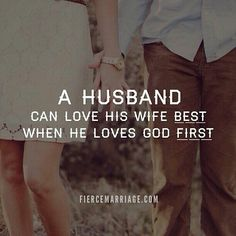 Marriage husband and wife putting God first in the relationship. Faith quote