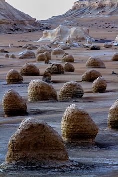 Wind erosion in the desert - White Desert, Egypt #egypt