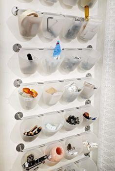 love this small storage idea