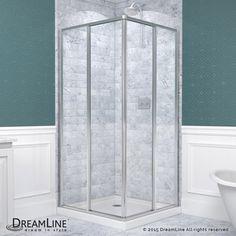 "Dreamline SHEN-8134340 French Corner 72"" High x 34-1/2"" Wide x 34-1/2"" Deep Slid Chrome Showers Shower Enclosures Corner"