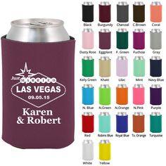 Custom Wedding Koozies (Clipart 1411) Las Vegas - Personalized Koozies - Koozies - Wedding Favor Koozie - Beer Coozies