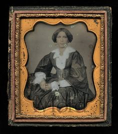 RARE 1850s Dag Photo of A Beautiful Black Woman with Gold Earrings and Jewelry   eBay
