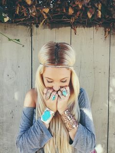 Chunky Turquoise or gemstone sterling silver jewelry makes a big boho statement but bold gold jewelry in a sleeker design has been displayed in the bohemian design and looks great as well...JW