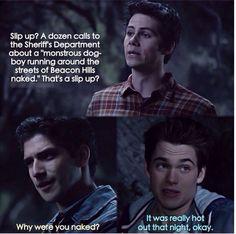 Stiles, Scott and Liam. Teen Wolf Season 5 Episode 1