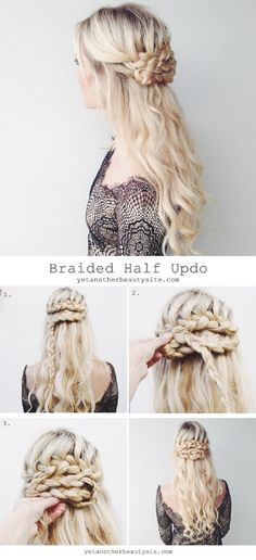 Braided Half Updo - 16 Heatless DIY Hairstyles To Get You Through The Summer   GleamItUp