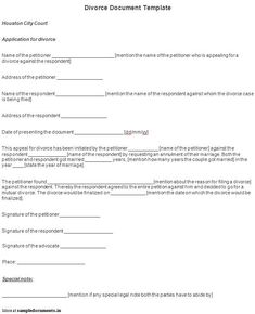 Fake Divorce Papers The Kim Kardashian Divorce Paperwork  Pinterest