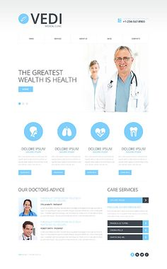 Template 48626 - Medical Responsive Website Template