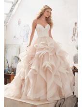 Prinzessin Außergewöhnliche Luxuriöse Brautkleider aus Organza mit Perlenstickerei