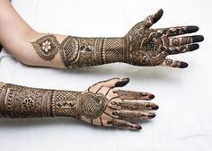 Just appropriate for the 'Reception'! Rajasthani Mehndi Designs, Dulhan Mehndi Designs, Mehandi Designs, Best Arabic Mehndi Designs, Wedding Mehndi Designs, Mehndi Design Images, Beautiful Mehndi Design, Latest Mehndi Designs, Best Mehndi