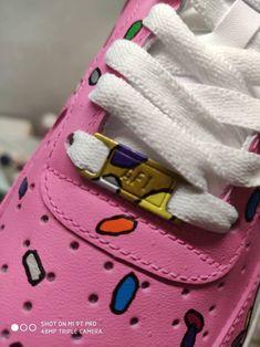 Custom Air Force One 1 Original Custom Shoes Simpsons Donut Etsy In 2020 Air Force Ones Air Force Nike Air Force Ones