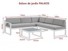 Lounge Sitzgruppe Aluminium PALAOS - 2 Farben günstig kaufen