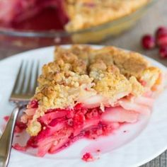 Cranberry-Ginger Pear Pie | Brown Eyed Baker