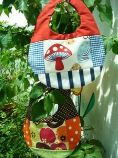 Colorful baby bib's of cotton fabric.