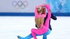 Pretty in pink: Savchenko's costume steals the show - Yahoo Sports