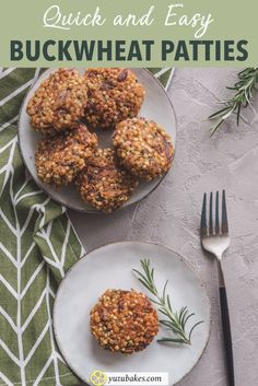 Quick and Easy Buckwheat Patties - How to make quick and easy buckwheat patties with simple ingredients from your pantry Raw Dessert Recipes, Vegan Breakfast Recipes, Raw Food Recipes, Healthy Recipes, Freezer Recipes, Drink Recipes, Vegan Food, Healthy Food, Healthy Baking