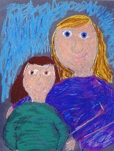 Chalk Project - learning Mary Cassatt's style.