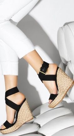 Stuart Weitzman wedges ♥✤ | Keep the Glamour | BeStayBeautiful