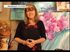 MONITOR | Gabriela Mensaque pintando flores con Acrílicos Profesionales Lautrec | Manos a la Obra - YouTube