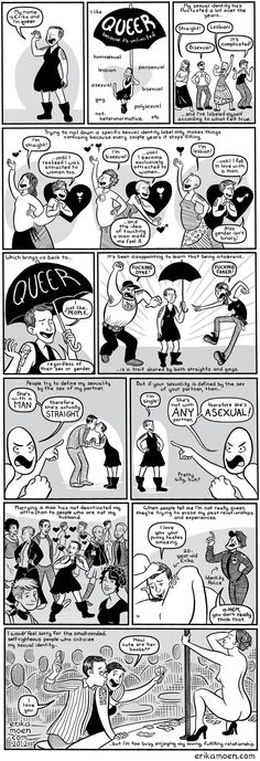 Words can be used in ways that broaden — rather than restrict — everyone's happiness and choices. | 15 Comics For Anyone Struggling To Explain What It Means To Be Queer