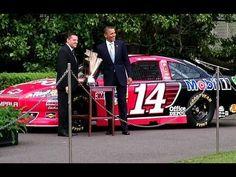 President Obama Honors Tony Stewart's NASCAR Sprint Cup Championship, via YouTube.