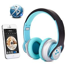 Special Offers - New Syllable G800 Foldable HIFI Stereo Wireless Bluetooth 4.0 NFC Double Moulds Noise Cancellation Headphone Earphone Headset with Microphone for iPod iPhone iPad Samsung Galaxys HTC or Any Other Device with Bluetooth Capability/ NFC Capability/3.5 mm Jack (Blue-black) - In stock & Free Shipping. You can save more money! Check It (May 07 2016 at 06:11PM)…