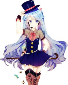 anime girl with top hat - google search <<<EXCUSE ME, GOOGLE, BUT THIS IS MIKU, NOT SOME RANDOM ANIME GIRL