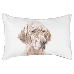 #English Setter (Orange Belton) Pet Bed - #dogbeds #dogbed #puppy #dog #dogs #pet #pets #cute #doggie