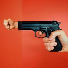 pistool en vuist #combophoto