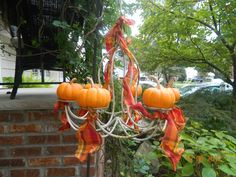 My pumpkin chandelier.  Screendoorgirl 3