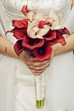Gorgeous Red Calla Lilly Bouquet